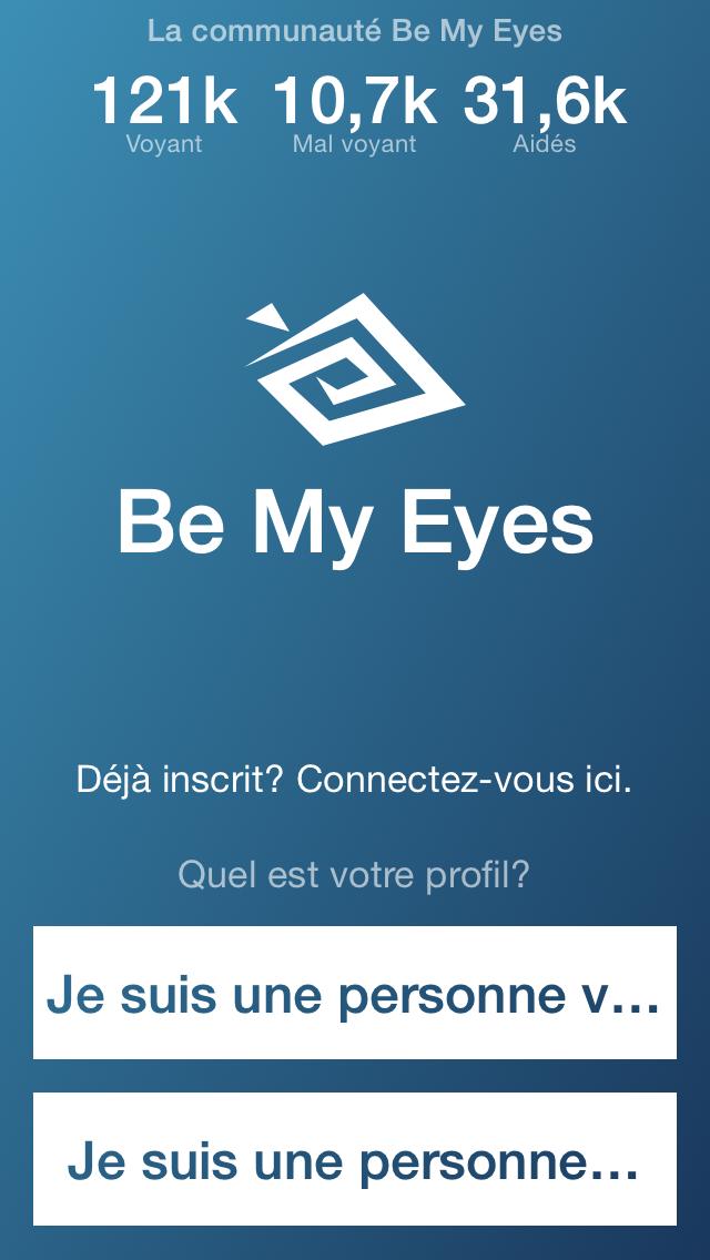 bemyeyes inscription crowdsourcing aide malvoyants